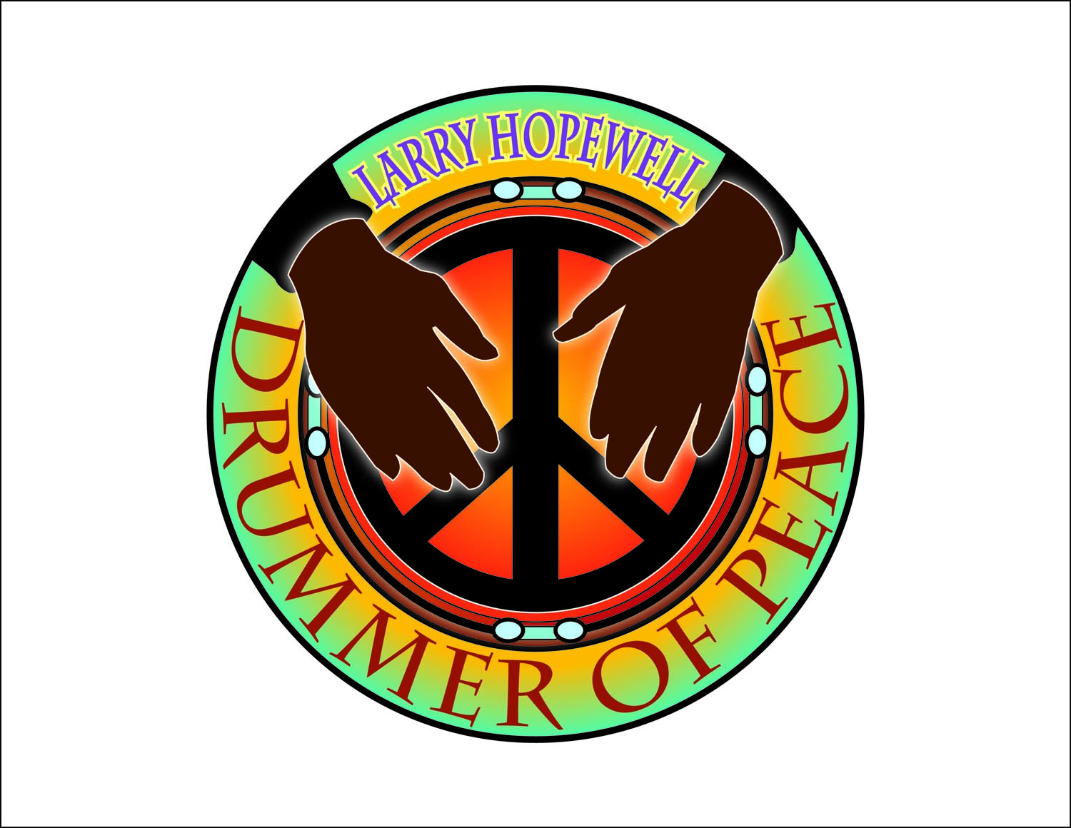 Larry Hopewell-Drummer Of Peace Logo